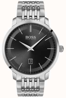 Boss |メンズプレミアムクラシック|ステンレス鋼|ブラックダイヤル| 1513746