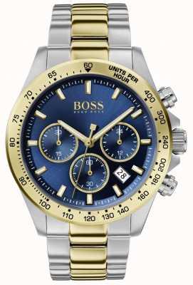 Boss |メンズヒーロースポーツルクス|ツートンカラーブレスレット|ブルーダイヤル| 1513767