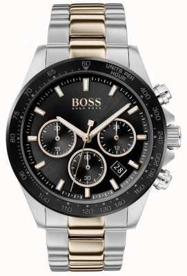 Boss |メンズ|ヒーロースポーツルクス|ツートーンブレスレット|ブラックダイヤル| 1513757