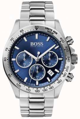 Boss |メンズヒーロースポーツルクス|スチールブレスレット|ブルーダイヤル| 1513755