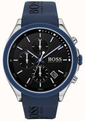Boss |男性の速度|ブルーラバーストラップ|ブラックダイヤル| 1513717