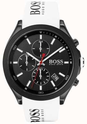 Boss |男性の速度|白いゴム製ストラップ|ブラックダイヤル| 1513718