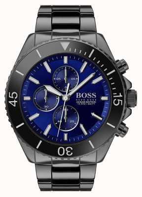 Boss |メンズオーシャンエディション|ブラックステンレス|ブルーダイヤル| 1513743