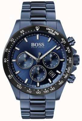 Boss |メンズ|ヒーロースポーツルクス|ブルースチールブレスレット|ブルーダイヤル| 1513758