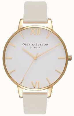 Olivia Burton 女性用ビーガンフレンドリーゴールドメッキヌードストラップ OB16BDV03