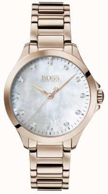 BOSS |彼女のためのダイヤモンド|ローズゴールド|真珠の母| 1502523