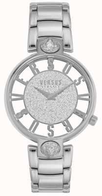 Versus Versace |女性のキルステンホフ|シルバースチールブレスレット|グリッターダイヤル VSP491319