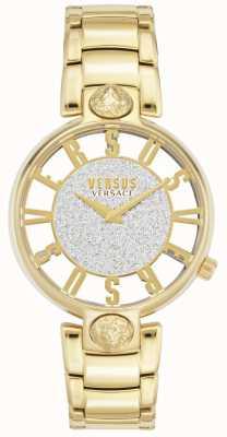 Versus Versace |女性のキルステンホフ|金メッキブレスレット|グリッターダイヤル VSP491419
