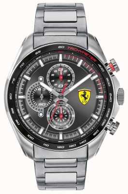 Scuderia Ferrari |メンズスピードレーサー|ステンレスブレスレット|ブラックダイヤル 0830652