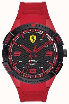 Scuderia Ferrari |男性の頂点|赤いゴム製ストラップ|ブラック/レッドダイヤル| 0830664
