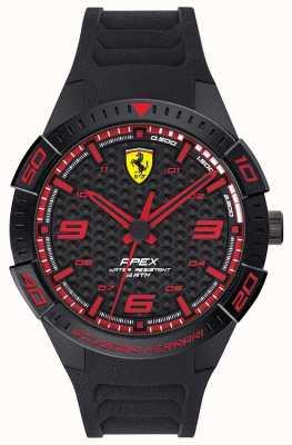 Scuderia Ferrari |男性の頂点|ブラックラバーストラップ|ブラック/レッドダイヤル| 0830662