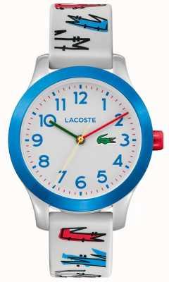 Lacoste |キッズ12.12 |ホワイトラバープリントストラップ|ホワイトダイヤル| 2030021
