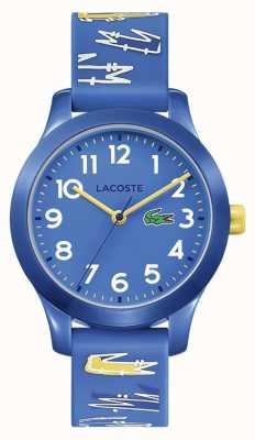 Lacoste |キッズ12.12 |ブルーラバープリントストラップ|ブルーダイヤル| 2030019