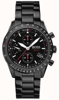 Boss |エアロ|ブラッククロノグラフ|ブラックブレスレットウォッチ| 1513771