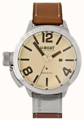 U-Boat 2クリームダイヤルとしてクラシコ50タングステン 8091