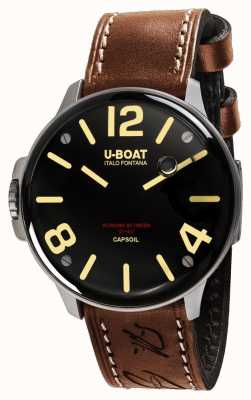 U-Boat Capsoil ss電気機械式ブラウンレザー 8110/A