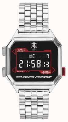 Scuderia Ferrari |メンズデジドライブ|ステンレスブレスレット|ブラックダイヤル| 0830703