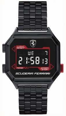 Scuderia Ferrari |メンズデジドライブ|イオンメッキブレスレット|ブラックダイヤル| 0830704