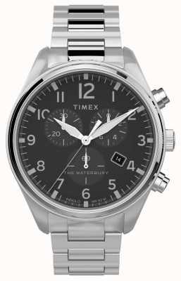 Timex |ウォーターベリー伝統的なクロノ42ミリメートル|ステンレス鋼 TW2T70300