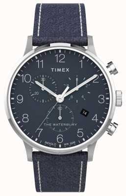 Timex |ウォーターベリークラシッククロノ40mm |ブルーレザー|ブルーダイヤル| TW2T71300