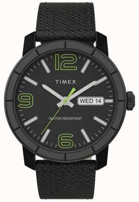 Timex |メンズmod 44mm |黒ナイロンストラップ|ブラックダイヤル| TW2T72500