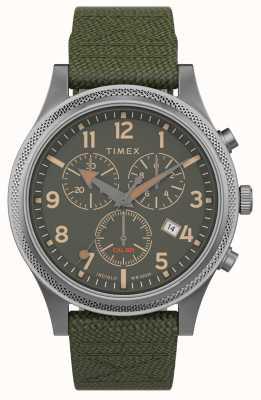 Timex |アライドltクロノ40mm |緑の布ストラップ|グリーンダイヤル| TW2T75800