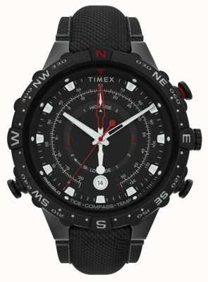 Timex |同盟45mm |黒い布ストラップ|ブラックダイヤル| TW2T76400
