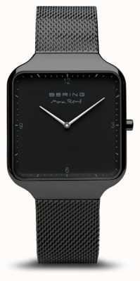 Bering |マックス・レネ|ブラックスチールメッシュブレスレット|ブラックダイヤル| 15836-123