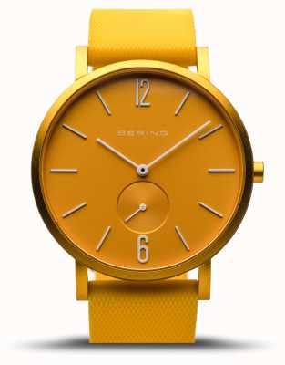 Bering |真のオーロラ|黄色のゴム製ストラップ|イエローダイヤル| 16940-699