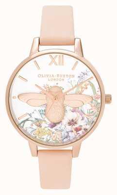 Olivia Burton |レディース|魅惑の庭| 3Dミツバチ|モモ革ストラップ| OB16EG151