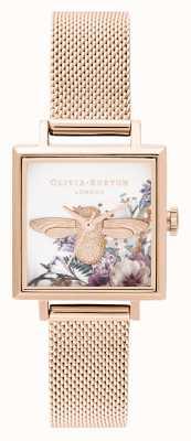 Olivia Burton |レディース|魅惑の庭| 3Dミツバチ|ローズゴールドメッシュ| OB16EG152