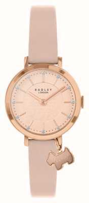 Radley セルビー通り|ピンクの革ストラップ|ピンク/ローズゴールドダイヤル| RY2864