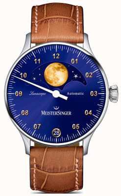 MeisterSinger ルナスコープ|ブルーダイヤル|ブラウンレザーストラップ LS908G