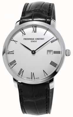Frederique Constant メンズ|スリムライン|自動|黒革|シルバーダイヤル FC-306MR4S6