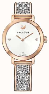 Swarovski |宇宙の岩|ローズゴールドバングルブレスレット|ホワイトダイヤル| 5376092