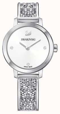 Swarovski |宇宙の岩|ステンレスバングルブレスレット|ホワイトダイヤル 5376080