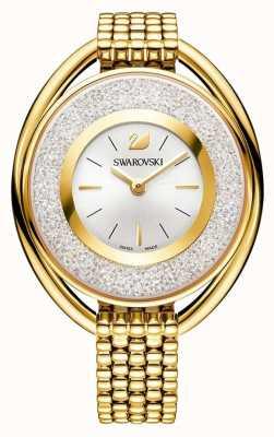 Swarovski 結晶|楕円形|ゴールドpvdブレスレット|シルバーダイヤル 5200339