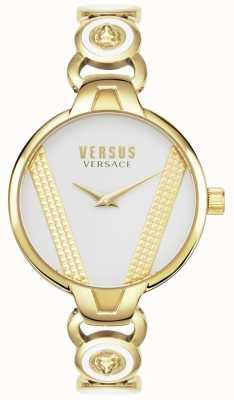 Versus Versace |サンジェルマン|金メッキステンレス鋼|ホワイトダイヤル| VSPER0219
