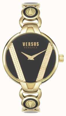Versus Versace |サンジェルマン|ゴールドトーンステンレス|ブラックダイヤル| VSPER0319