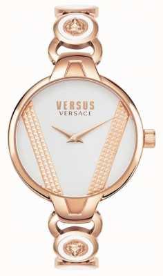Versus Versace |サンジェルマン|ローズゴールドトーンステンレススチール|ホワイトダイヤル VSPER0419