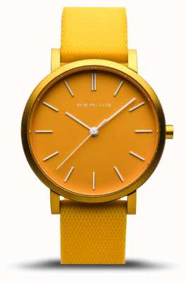Bering  真のオーロラ 黄色のゴム製ストラップ イエローダイヤル  16934-699