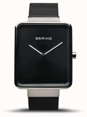 Bering |メンズクラシック|ブラックメッシュブレスレット|ブラックダイヤル| 14533-102