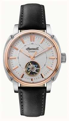 Ingersoll |ディレクター自動|黒革ストラップ|ホワイトダイヤル I08101