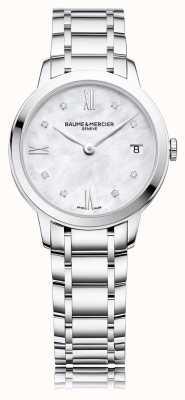 Baume & Mercier Classimaダイヤモンド|真珠のステンレス製ブレスレット M0A10326