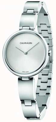 Calvin Klein |女性のステンレスブレスレット|シルバーダイヤル| K9U23146