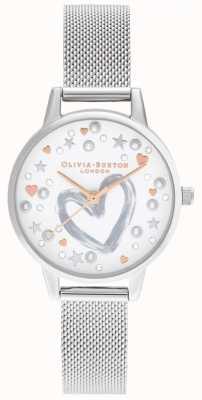 Olivia Burton ローズゴールド&シルバーメッシュ OB16LH12