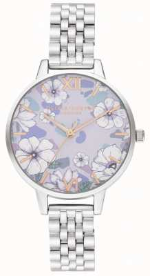 Olivia Burton Groovy Blooms Rose Gold&Silverブレスレット OB16AN05