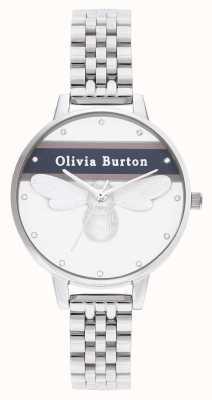 Olivia Burton |レディース|バーシティラッキービー|シルバーブレスレット| OB16VS07