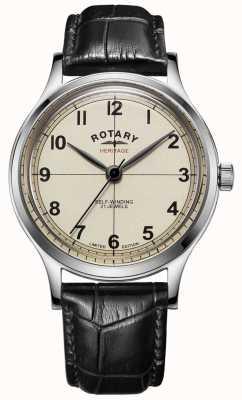 Rotary  メンズ 限定版 遺産 黒革ストラップ  GS05125/32