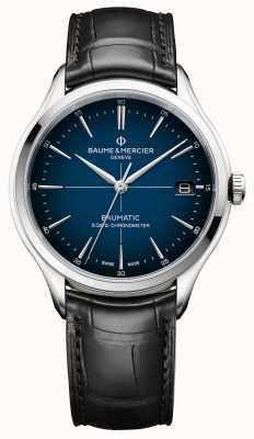 Baume & Mercier クリフトン|ボーマティック|カドランブルーダイヤル|黒ストラップ M0A10467